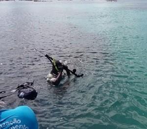 Uso de arpão também foi encontrado pelos fiscais do IMA (Foto: Divulgação/ IMA)