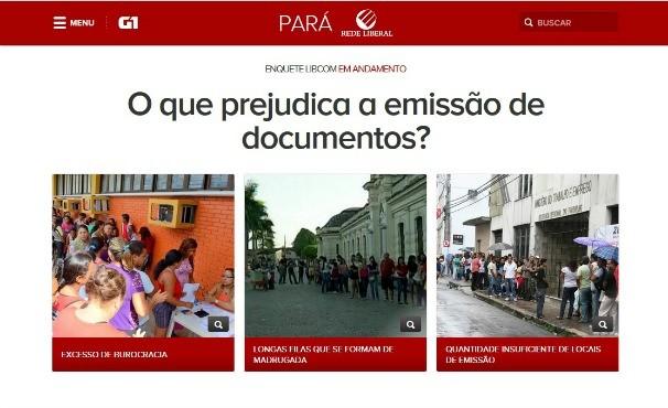 Enquete Liberal Comunidade- emissão de documentos  (Foto: Reprodução/G1Pará)