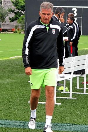 Carlos Queiroz Irã treino CT do Corinthians (Foto: Rodrigo Faber )