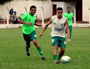 Biba e Gean foram campeões da Segundona e continuam no time (Foto: Paulo Júnior/TV Lobão)