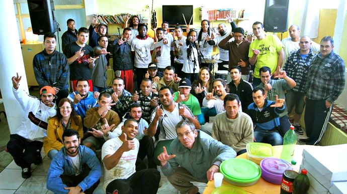 Direito no Cárcere GrooVI Mistura com Rodaika Superstar projetos sociais Lá Vem a Luz (Foto: Arquivo Pessoal)