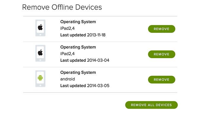 Remover um dispositivo offline é muito simples (Foto: Reprodução/Spotify)