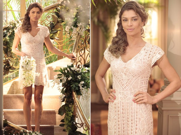 Vestido de Ester (Foto: Flor do Caribe/ TV Globo)
