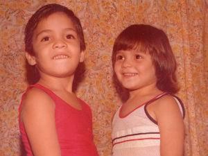 Kiko e Jeanne na infância (Foto: Arquivo Pessoal/Kiko e Jeanne)