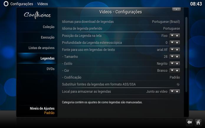 Configurando o download de legendas em Português (Foto: Reprodução/André Sugai)