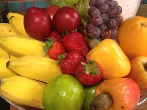 Desafio cesta de frutas Bem Estar (Foto: Tadeu Meniconi/G1)