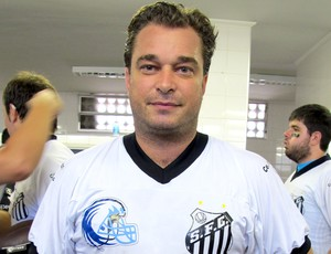 Futebol Americano - JAMELLI, EX-MEIA DO SANTOS E ATUAL GERENTE DE FUTEBOL (Foto: Julyana Travaglia / Globoesporte.com)