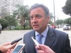 Resultados de pesquisas são 'recado' para todos os políticos, diz Aécio