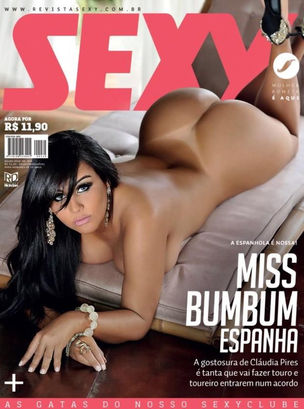 Claudia Pires estampa capa de revista SEXY de julho (Foto: VANESSA DALCENO / CO ASSESSORIA)