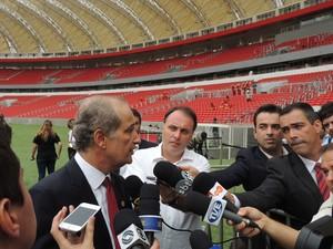 Luigi muda tom e garante Copa em Porto Alegre: 'não existe risco nenhum' (Foto: Luiza Carneiro/G1)