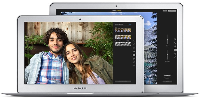 MacBook Air possui modelos com 11 e 13 polegadas (Foto: Divulgação/Apple)