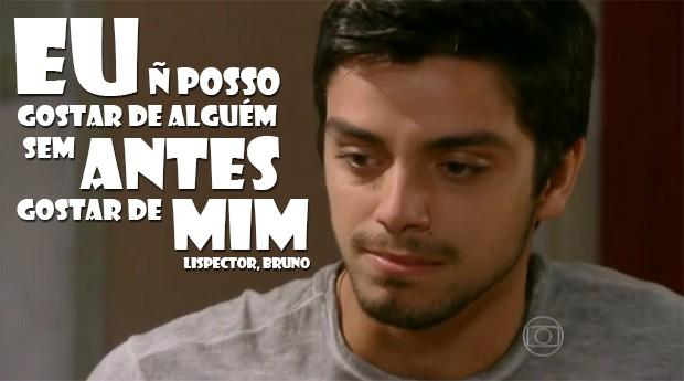 Bruno tem que gostar dele primeiro!!! (Foto: Malhação / TV Globo)