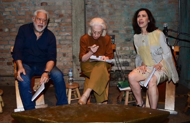 Antônio Fagundes, Fernanda Montenegro e Fernanda Torres (Foto: Eduardo Martins/AgNews)