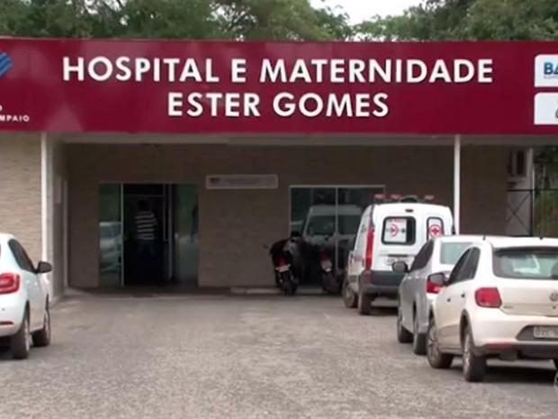Hospital e Maternidade Ester Gomes, em Itabuna, na Bahia (Foto: Divulgação / TV Santa Cruz)