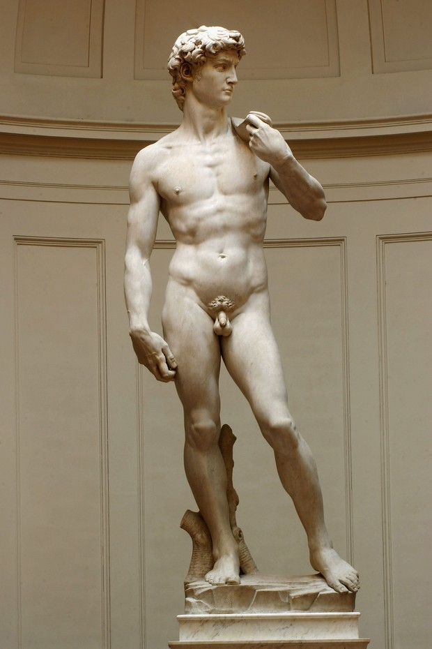 Estátua de David, de Michelangelo, fica na Galleria Dell'Accademia (Foto: Getty Images)