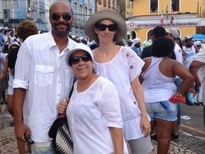 Turista curitibana na festa do Senhor do Bonfim (Foto: Maiana Belo/G1)
