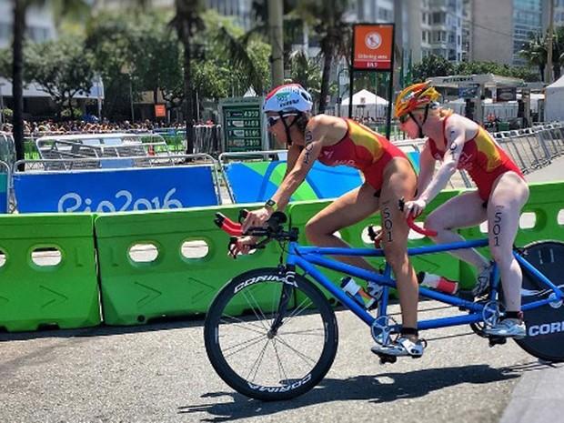 João Maia faz registro do ciclismo na Paralimpíada (Foto: Reprodução / Instagram)