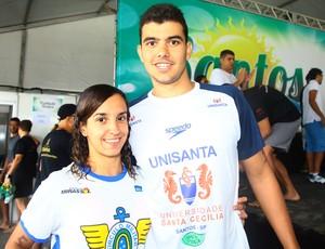 Victor Colonese e Mabília Felício (Foto: Divulgação / Prefeitura de Santos)