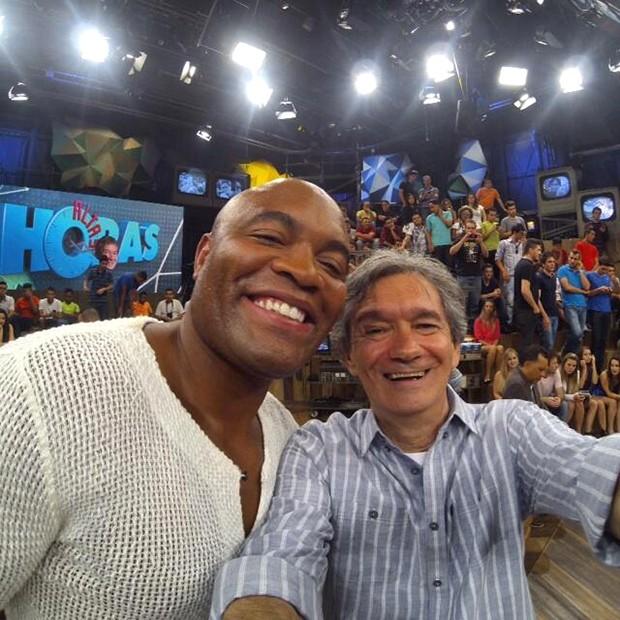 Anderson Silva e Serginho twitter (Foto: Reprodução / Twitter )