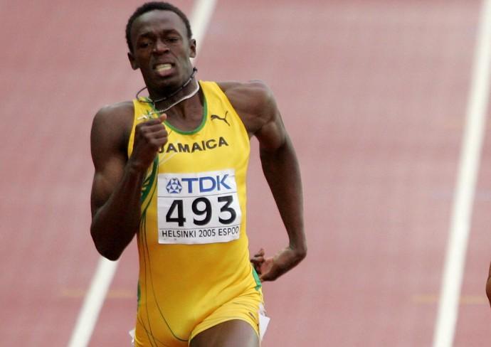 Atletismo Usain Bolt mundial de helsinque 2005 (Foto: Agência Getty Images)