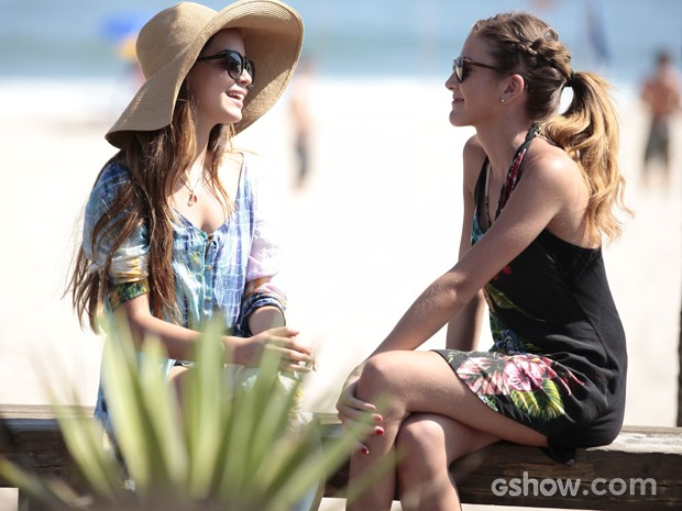 Flaviana e Sofia falam sobre Ben (Foto: Pedro Curi / TV Globo)