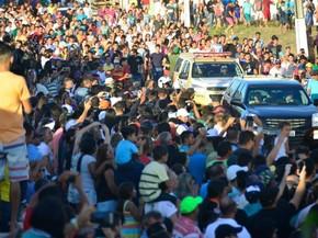 RN - velório Gil Chapecoense Nova Cruz (Foto: Andrea Tavares/G1)