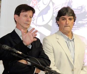 Wilfredo Brillinger, Dario Ferreira da Silva e Rodrigo Otávio Melim Passoni (Foto: Luiz Henrique/Figueirense FC)