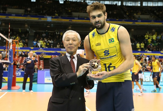 Com 21 pontos, Lucão foi escolhido como melhor jogador da final (Foto: Divulgação / FIVB)
