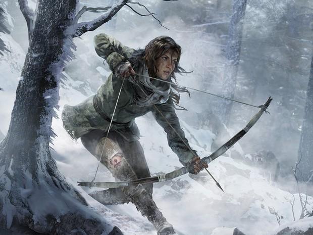 Lara Croft em cena conceitual de 'Rise of the Tomb Raider' (Foto: Divulgação)