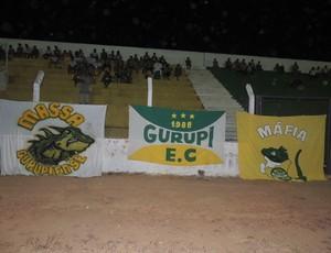 Torcida do Gurupi compareceu em pequeno número no Rezendão (Foto: Gil Correia)