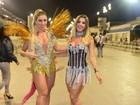 Ana Paula Minerato aposta em look curtinho para noite de samba
