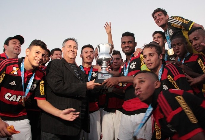 Festa flamengo campeão Taça GB sub-20 (Foto: Thiago Sinionato / Flamengo)