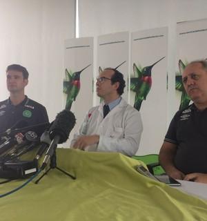 médicos coletiva chapecoense (Foto: Leonardo Lourenço)