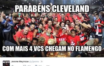 """Meyinsse parabeniza os Cavs e brinca: """"Com mais 4 chegam no Flamengo"""""""