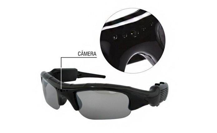 c2e6dc4de0675 Óculos com câmera embutida é ideal para gravar atividades físicas e esportes  (Foto  Divulgação