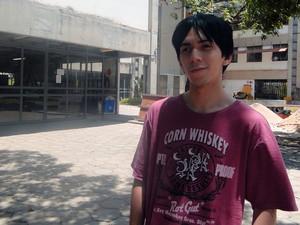 Gustavo Meer foi expulso de faculdade da UFMG após pular o muro (Foto: Laura de Las Casas/G1)