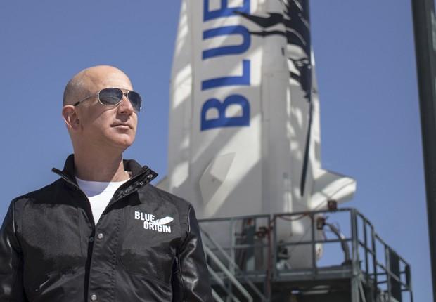 Jeff Bezos, fundador da Amazon, revela sua empresa de foguetes espaciais, a Blue Origin (Foto: BlueOrigin.com)