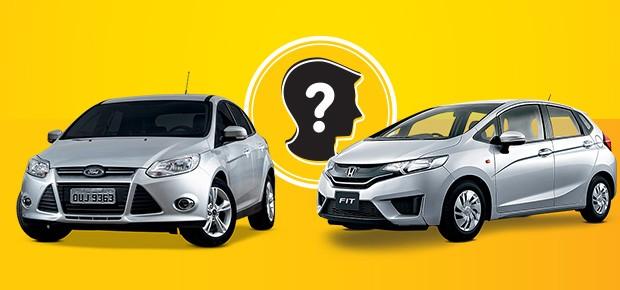 Que Carro eu Compro: Ford Focus X Honda Fit? (Foto: Autoesporte)
