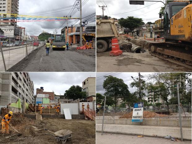 Obras do BRT cortam 14 bairros da cidade (Foto: Káthia Mello/G1)