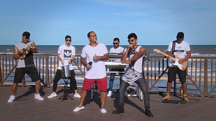Aprenda o passinho com o grupo Quinto Round (Foto: TV Sergipe)