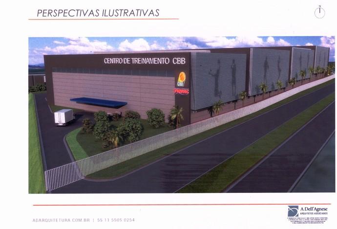 Maquete do futuro CT da Confederação Brasileira de Basquete (CBB) (Foto: Divulgação/CBB)
