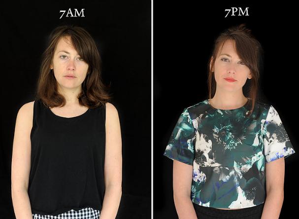 Barbara Iweins retrata pessoas às 7h da manhã e às 7h da noite (Foto: Barbara Iweins)