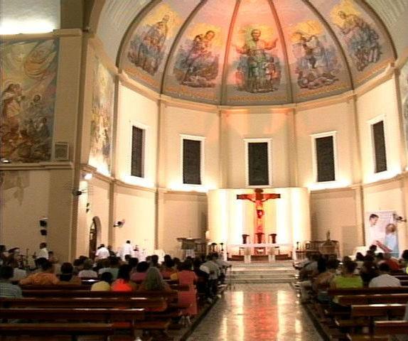 Basílica de Santo Antônio, em Vitoria (Foto: Reprodução / TV Gazeta)