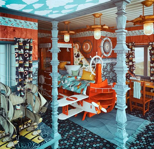 Decoração de quartos homenageia diretores de clássicos do cinema (Foto: Divulgação)