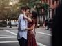 Thaila Ayala e Mateus Solano rodam cenas de filme em Nova York