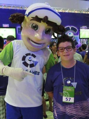 Felipe de 13 anos participa pela primeira vez do TEM Games  (Foto: Renata Marconi/ G1)