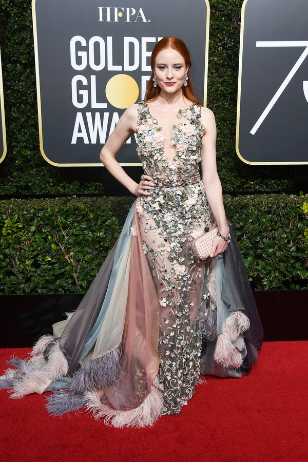 BEVERLY HILLS, CA - JANUARY 07:  Model Barbara Meier attends The 75th Annual Golden Globe Awards at The Beverly Hilton Hotel on January 7, 2018 in Beverly Hills, California.  (Photo by Frazer Harrison/Getty Images) (Foto: Getty Images)