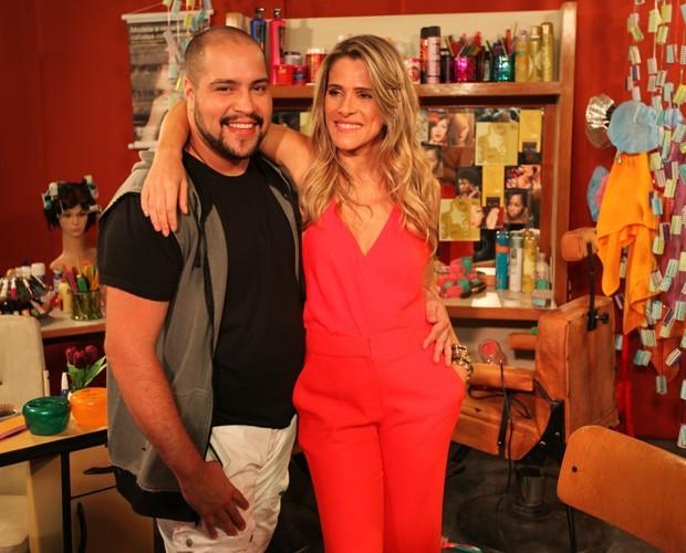 Tiago Abravanel e Ingrid Guimarães vão estar juntos no novo programa (Foto: Fabiano Battaglin / Gshow)