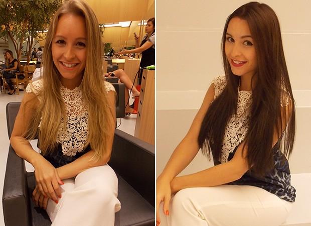 Antes e depois de Carla Diaz (Foto: Divulgação)