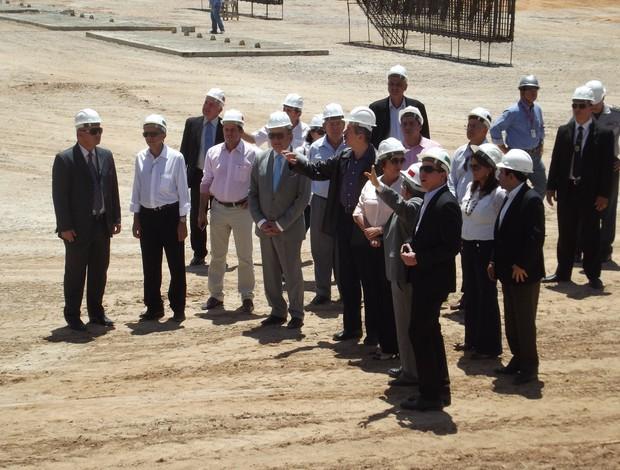Ministro fez elogios aos responsáveis pela obra da Arena das Dunas (Foto: Jocaff Souza)